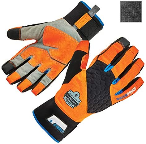Waterproof Work Gloves High Visibility Thermal Insulated Touchscreen Enhanced Grip Ergodyne product image
