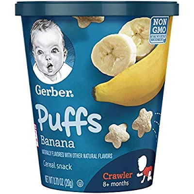 Gerber Puffs Cereal Snack Cup, Strawberry Apple/Banana Variety Pack