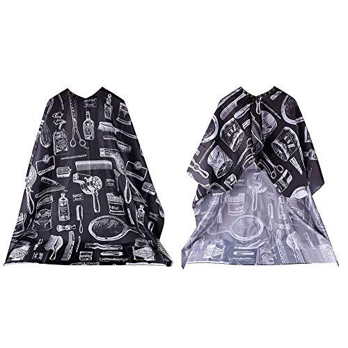 dljztrade Haarkap voor volwassenen en kinderen, professionele elastische halsbekleding, stoffen borstel, schaarschort, kapperskap multi