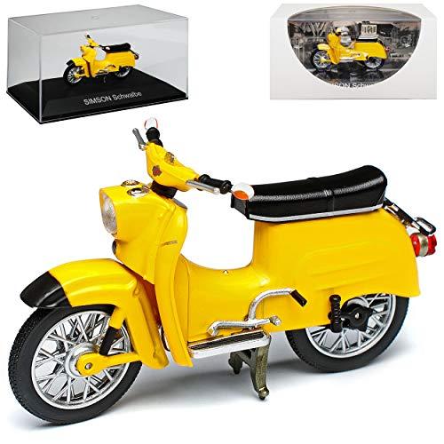 Simson Schwalbe KR51 Gold Gelb 1964-1986 DDR 1/24 Ixo Modell Motorrad