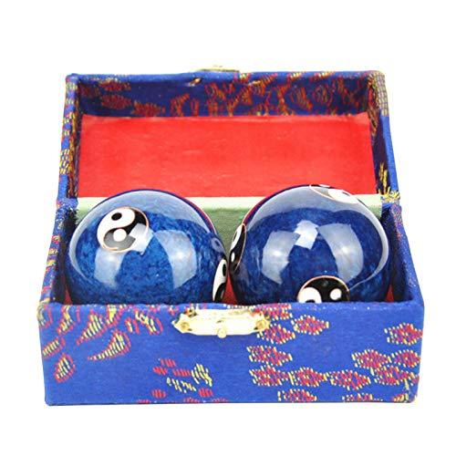 Baoding Bolas Relajación Terapia Baoding Ball Fitness Mano Chino Salud Dedo Ejercicio 2pcs