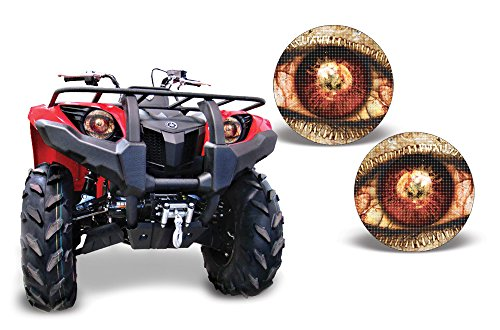 AMR Racing ATV Headlight Eye Graphics Decal Cover Compatible with Yamaha Grizzly 660/450/400/350/125 - Spliced