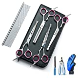 Best Dog Grooming Scissors - Breeze Touch- Dog Grooming Scissors Kit - Hair Review