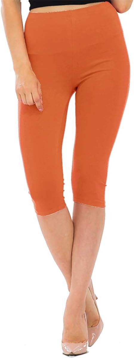 NANAVA Women's High-Rise Regular Plus Premium Cotton Capri Leggings