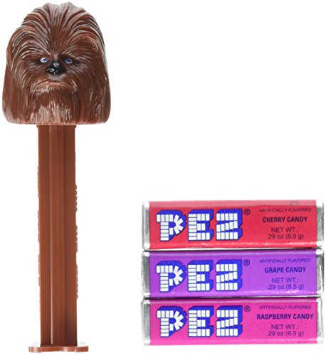 PEZ Candy Dispenser: Star Wars Chewbacca Blister Card