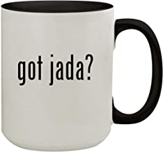 got jada? - 15oz Colored Inner & Handle Ceramic Coffee Mug, Black