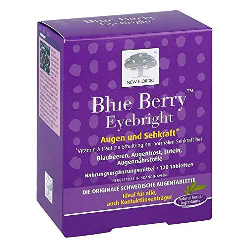 Blue Berry Eyebright Augen und Sehkraft Tabletten, 120 St. Tabletten