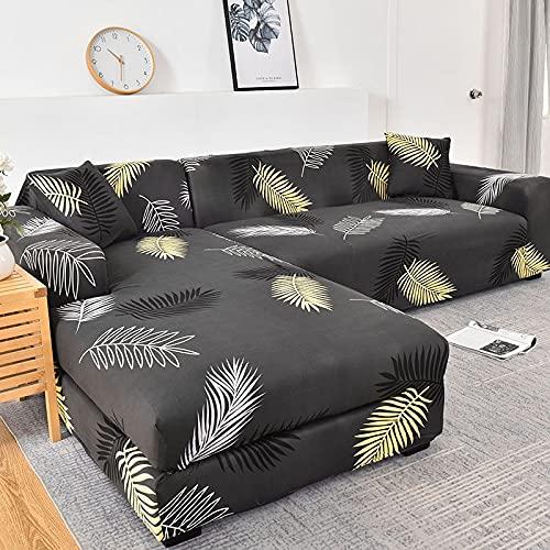 MKQB Funda de sofá elástica elástica Moderna y Simple, Funda de sofá de Esquina en Forma de L para Sala de Estar, Antideslizante, Envuelto herméticamente NO.11 M (145-185cm