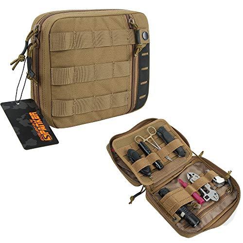 EXCELLENT ELITE SPANKER EDC Pouch Tactical Admin Pouch Molle Utility Organizer Pocket Tool Bag(Marrón)