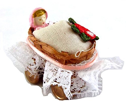Melody Jane Poupées Dolly en Osier Panier Landau Jouet Miniature Boutique Accessoire