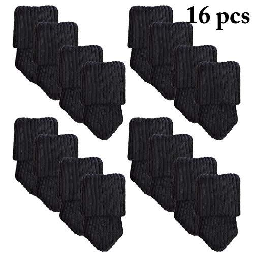 Justdolife Stoelpoot, antislip, creatieve meubels, sokken, stoelpoot, vloerbescherming zwart (4 stuks).