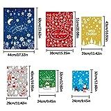 Adminitto88 Geschenkverpackung Taschen Geschenktaschen Weihnachten Geschenkbeutel Für Weihnachten 30pcs Geschenkbeutel Mit Band Krawatten Für Xmas Party Süßigkeiten Spielzeug Packung