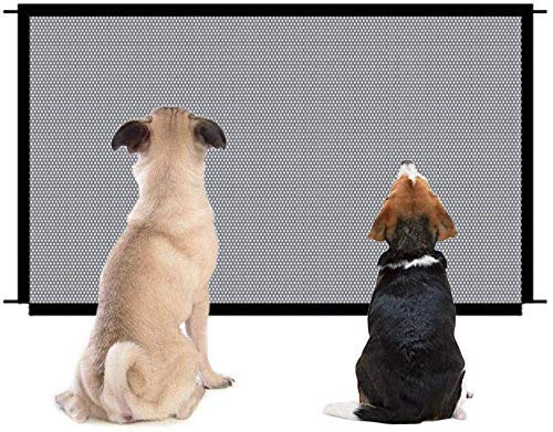 Parkarma - Barrera portátil plegable para perros, barrera de seguridad extensible Magic Gate Seguridad Aislamiento Pet para mascotas Baby Doorway Magic Pet (72-110 cm)
