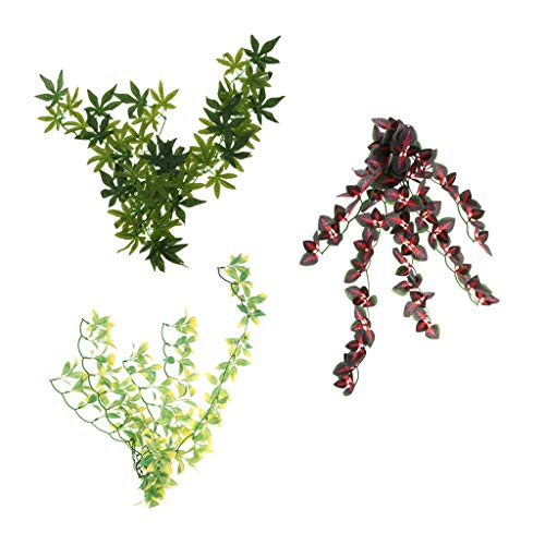 HomeDecTime 3 Pcs Artificial Greenery Fake Hanging Vine Plants Leaf Garland Hanging for Wedding Party Garden Outdoor