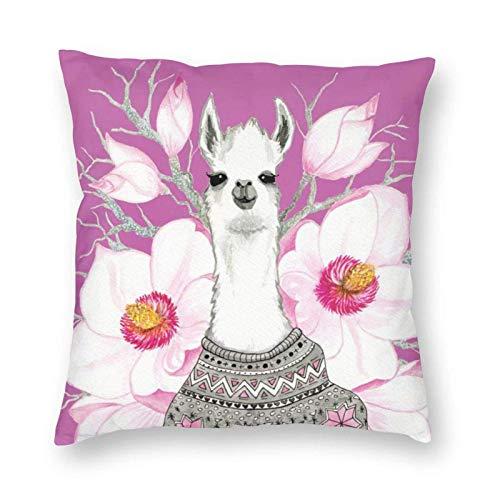 Funda de almohada cuadrada suave de felpa con estampado de flores moradas para decoración del hogar, fundas de cojín, fundas de almohada, regalos para sofá, dormitorio, coche, 45,7 x 45,7 cm