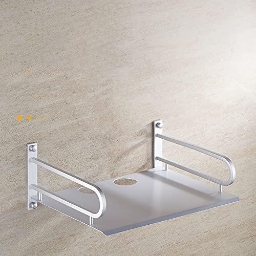 estante de pared Montado en la pared de aleación de aluminio TELEVISOR Soporte de estante de caja de juego, rack de enrutadores sin perforación, material grueso y espacio grande, adecuado para varias