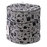 Pressure Cooker Cover - Custom Made Accessories - Fits 6.5 QT and 8 Qt. For Use With Ninja Foodi (Gray and Black - 6.5Qt. and 8 Qt)