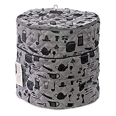 Pressure Cooker Cover - Custom Made Accessories - Fits 6.5 QT and 8 Qt. For Use With Ninja Foodi (Gray and Black - 6.5Qt. and 8 Qt) PATENT PENDING CUSTOM DESIGN