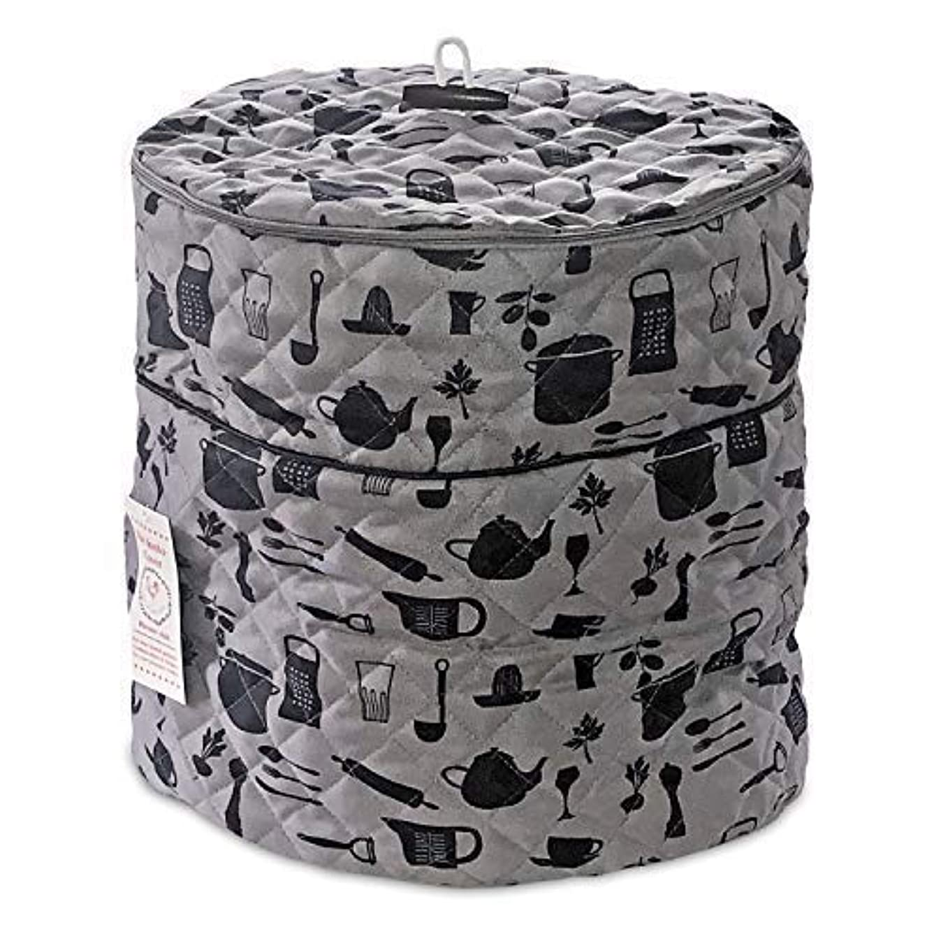Debbiedoo's Pressure Cooker Cover - Custom Made Accessories - Fits 6.5 QT and 8 Qt. for Use with Ninja Foodi (Gray and Black - 6.5Qt. and 8 Qt)
