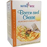 NutriWise - Bacon & Cheese Omelet Mix | Healthy Nutritious Diet | 7/Box | High 15g Protein, Low Calorie, Low Fat, 2g Net Carb