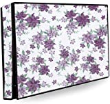 Purple Floral LED TV Cover for 50'' Inch Dustproof Television Cover Protector for 50 Inch LCD & LED