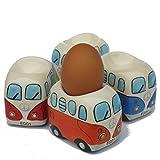 Camper Bus Eierbecher   aus Keramik, bunt sortiert, im 4er Set.