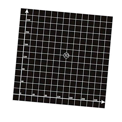 #N/A 1x Platform Sticker Bed Surface for 3D Printer Black