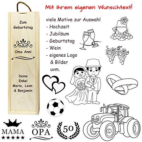 Geschenkbox mit Gravur - Name, Spruch, Motiv - originelle Verpackung für Geschenke zum Geburtstag, Jubiläum, Hochzeit, Weihnachten, Jahrestag.