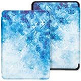 WALNEW Case for Kindle Paperwhite 10th Generation 2018 (Model No. PQ94WIF) - Protective Slim PU Leather Case Smart Auto Wake/Sleep Cover Only Fits Kindle Paperwhite 10th Gen 2018 Released (A-Fish)
