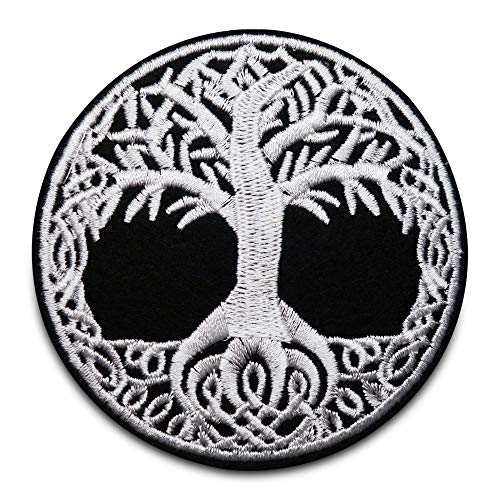 Finally Home Baum des Lebens Patches zum Aufbügeln | Pflanzen Kunst Patch, Bügelflicken, Flicken, Aufnäher