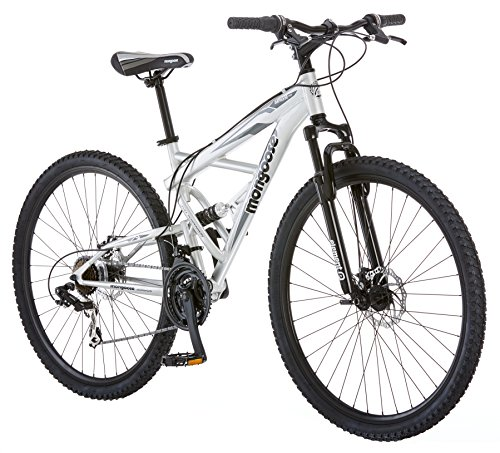Product Image 2: Mongoose Impasse Mens Mountain Bike, 18-Inch Frame, 29-Inch Wheels with Disc Brakes, Silver