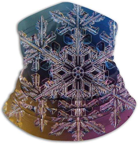 xiangyan11 3D Schneeflocke Unisex Mikrofaser Halswärmer Kopfbedeckung Gesicht Schal Maske Für Winter Kaltwetter Maske Bandana Sturmhaube