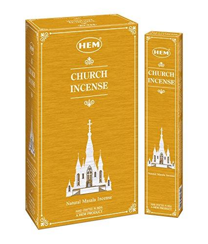 HEM Varillas de incienso con fragancia exclusiva de iglesia Masala (juego de 12 cajas, 15 gramos...