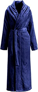 Liveinu Unisex Plush Fleece Soft Full Long Bathrobe Housecoat Terry Robe