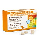 Complexe Fer - Vitamine C + Vitamine B12 I Antioxydant I Anti-Fatigue I Multi-Vitamines I Meilleure Résistance aux Agressions Infectieuses Et Bactériennes I Meilleure Récupération - 30 Comprimés