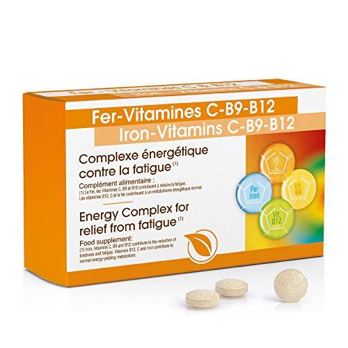 Laboratoires Vitalthéa Iron-Vitamins C-B9-B12 Capsules