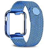 TGGFA Coque + bracelet pour Apple Watch 40 mm 44 mm 38 mm 42 mm boîtier plaqué + bracelet en acier...