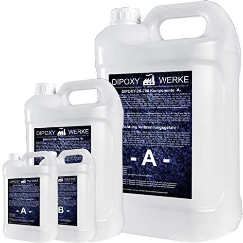 3Kg 2K Résine époxy transparente Glaçage Epoxyde bi composant Epoxy Resine Coulée Cristalline PRV table sol bois fibre carrelage colle DIPOXY-2K-700