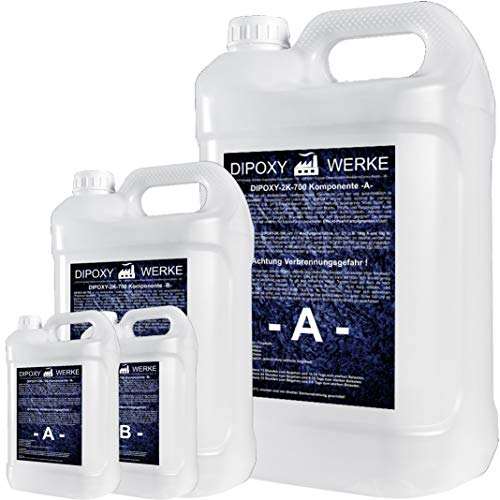 3kg Resina epoxi 2K dos componentes Madera Cristal Transparente para laminar Resina de epoxy para mesa suelo Terra Acuario Formas Diseño UV Estable adhesivo ⭐