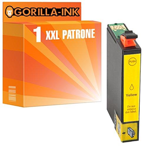 Gorilla-Ink 1x Tintenpatrone XXL für Epson GI0714 Yellow Stylus DX 8450 DX 9400 F DX 9400 F WiFi Stylus Office B 40 W