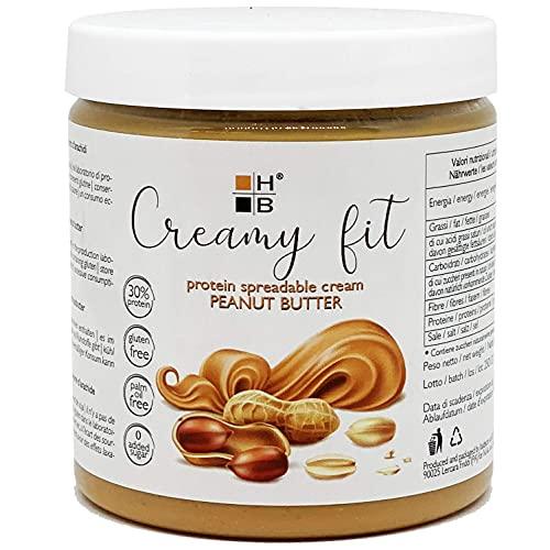CREAMY FIT HB | varianti BURRO D'ARACHIDI | Crema spalmabile proteica 250g | high protein, low sugar (BURRO D'ARACHIDI, 250g (1 confezione))