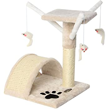CUPETS Pet Products Cat Tree House with Scratching Post for Kittens and Cat,Activity Tree