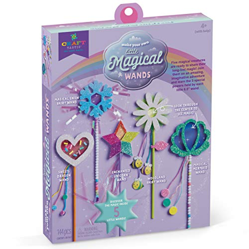 Craft-tastic Make Your Own Magical Wands – Craft Kit for Kids – Everything Included for 5 Fun DIY Magic Wards Art & Crafts Projects