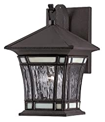 Westinghouse Lighting 6486400 One-Light Exterior Wall Lantern, Textured Rust Patina on Solid Brass and Steel with