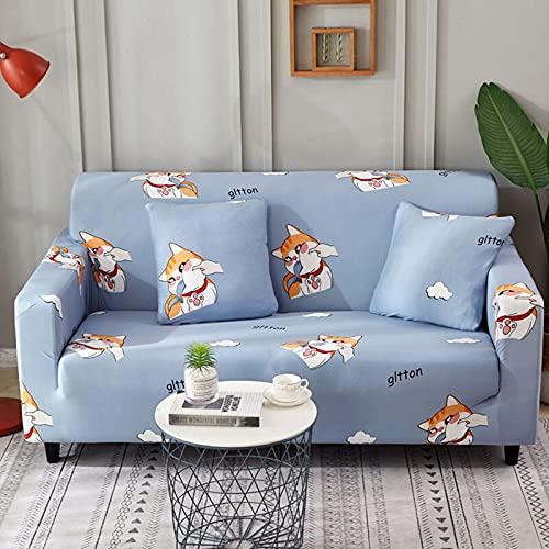 PPOS Funda de sofá elástica Funda de sofá Universal Suave Funda de sofá para Sala de Estar Funda de sofá Estilo Decoración para el hogar Funda A8 1 Asiento 90-140cm-1pc