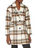 TOM TAILOR Denim Karomantel Abrigo de lana, 24380 – Crema Beige Check, XL para Mujer