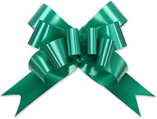 Berwick Offray Butterfly Ribbon Pull Bow, 2'' Diameter with 8 Loops, Emerald Green 100 Pieces