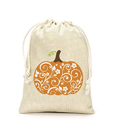 Thanksgiving Gifts Bags- Thanksgiving Pumpkin Gift Bag, Thanksgiving Day Decoration, Holiday Supplies- Set of 5
