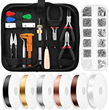 Ring Wire Making Kit, Thrilez Jewelry Making Supplies Kit with Jewelry Wire, Jewelry Tools, Jewelry Findings, Pliers, Craft Beading Wire for Ring Making, Repairing, Wire Wrapping and Beading