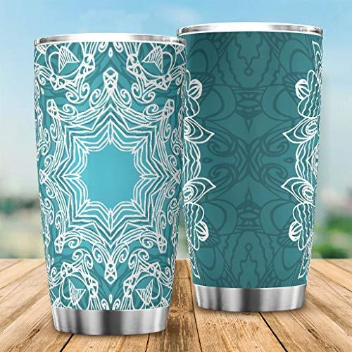 O3XEQ-8 Taza de café de acero inoxidable – Taza de café con pared duradera para el hogar Office White 20 oz
